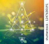 interlocking circles  triangles ... | Shutterstock .eps vector #1247630191