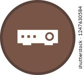 projector glyph round circle... | Shutterstock .eps vector #1247630584