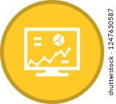 chart glyph round circle... | Shutterstock .eps vector #1247630587