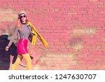 Outdoor Autumn Fashion. Girl In ...