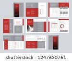 template layout design with... | Shutterstock .eps vector #1247630761