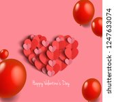hearts with balloons for... | Shutterstock .eps vector #1247633074