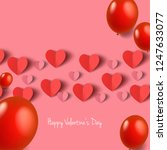 hearts with balloons for... | Shutterstock .eps vector #1247633077
