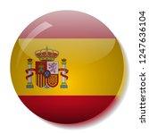 spanish flag glass button... | Shutterstock .eps vector #1247636104