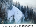 top view of the skier  which... | Shutterstock . vector #1247638897