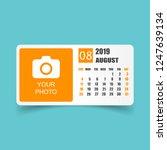 calendar august 2019 year in... | Shutterstock .eps vector #1247639134