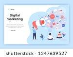 digital marketing concept... | Shutterstock .eps vector #1247639527