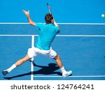 melbourne   january 15  roger... | Shutterstock . vector #124764241
