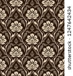 seamless damask vintage...   Shutterstock .eps vector #1247642434