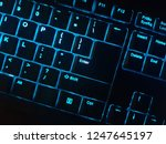 blue backlit low profile... | Shutterstock . vector #1247645197