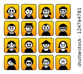 set of avatar people icons.   Shutterstock .eps vector #124764781