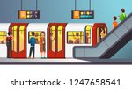 busy city underground subway... | Shutterstock .eps vector #1247658541