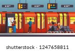 busy city underground subway... | Shutterstock .eps vector #1247658811