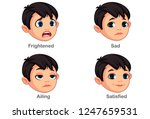 boy with different facial... | Shutterstock .eps vector #1247659531