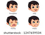 boy with different facial... | Shutterstock .eps vector #1247659534