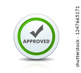 approved checkmark button...   Shutterstock .eps vector #1247665171
