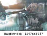 business analysis and modern... | Shutterstock . vector #1247665357