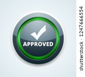 approved checkmark button...   Shutterstock .eps vector #1247666554