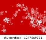 snow flakes falling macro... | Shutterstock .eps vector #1247669131