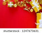 merry christmas and happy... | Shutterstock . vector #1247673631