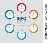 vector infographic template for ... | Shutterstock .eps vector #1247676301