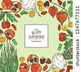background with super food ... | Shutterstock .eps vector #1247677111