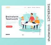 site template  teamwork ... | Shutterstock .eps vector #1247683441