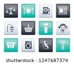 roadside  hotel and motel... | Shutterstock .eps vector #1247687374