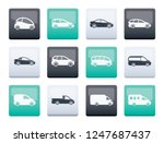 different types of cars icons... | Shutterstock .eps vector #1247687437