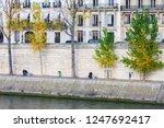 embankment of the seine at... | Shutterstock . vector #1247692417