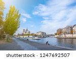 cathedral of notre dame de... | Shutterstock . vector #1247692507