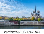 cathedral of notre dame de... | Shutterstock . vector #1247692531