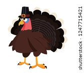 thanksgiving turkey wearing... | Shutterstock .eps vector #1247715421