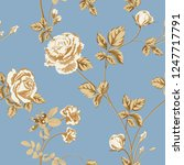 trendy floral background with... | Shutterstock .eps vector #1247717791