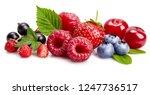 set fresh berry. mix summery...   Shutterstock . vector #1247736517
