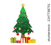 christmas card vector. free... | Shutterstock .eps vector #1247738731