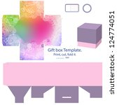 favor box die cut. abstract... | Shutterstock . vector #124774051