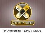 golden badge with crossed... | Shutterstock .eps vector #1247742001