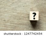 letter block in question mark... | Shutterstock . vector #1247742454