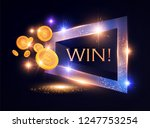 win  gambling game shining... | Shutterstock .eps vector #1247753254