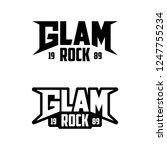 glam rock logo. rock music.... | Shutterstock .eps vector #1247755234