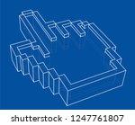 pointer hand icon. 3d... | Shutterstock . vector #1247761807