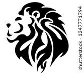 the lion logo is painted black... | Shutterstock .eps vector #1247771794