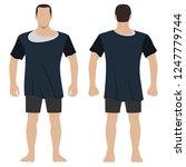 fashion man body full length... | Shutterstock .eps vector #1247779744