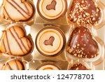 heart cookies | Shutterstock . vector #124778701
