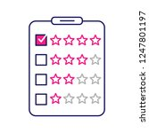 rating survey color icon.... | Shutterstock .eps vector #1247801197