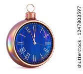 new year's day 12 clock face... | Shutterstock . vector #1247803597