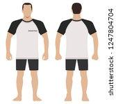 fashion man body full length... | Shutterstock .eps vector #1247804704
