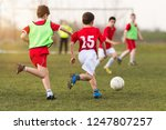 young children player on the... | Shutterstock . vector #1247807257