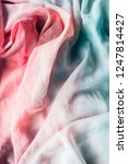 crumpled blue and pink chiffon... | Shutterstock . vector #1247814427